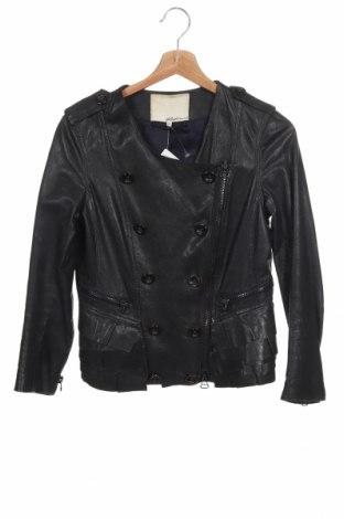 Дамско кожено яке 3.1 Phillip Lim, Размер XS, Цвят Черен, Естествена кожа, Цена 234,65лв.