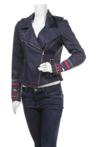Dámská kožená bunda  Desigual, Velikost M, Barva Modrá, Eko kůže, Cena  2529,00Kč