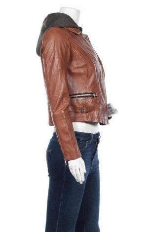 Дамско кожено яке Gipsy, Размер M, Цвят Кафяв, Естествена кожа, Цена 291,75лв.