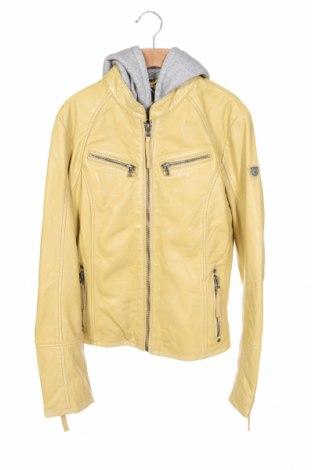 Γυναικείο δερμάτινο μπουφάν Gipsy, Μέγεθος L, Χρώμα Κίτρινο, Γνήσιο δέρμα, Τιμή 150,39€