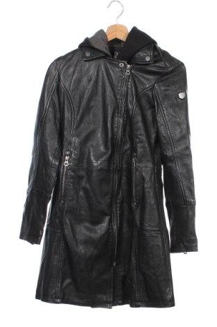 Γυναικείο δερμάτινο μπουφάν Gipsy, Μέγεθος XS, Χρώμα Μαύρο, Γνήσιο δέρμα, Τιμή 154,25€