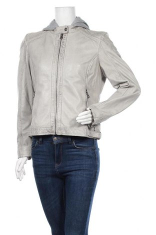 Γυναικείο δερμάτινο μπουφάν Gipsy, Μέγεθος L, Χρώμα Γκρί, Γνήσιο δέρμα, Τιμή 138,79€
