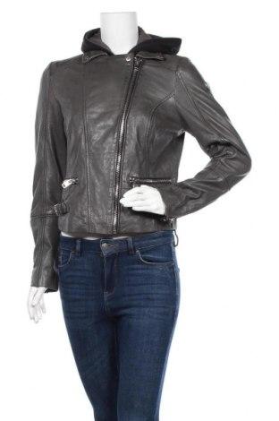 Γυναικείο δερμάτινο μπουφάν Gipsy, Μέγεθος L, Χρώμα Γκρί, Γνήσιο δέρμα, Τιμή 142,66€