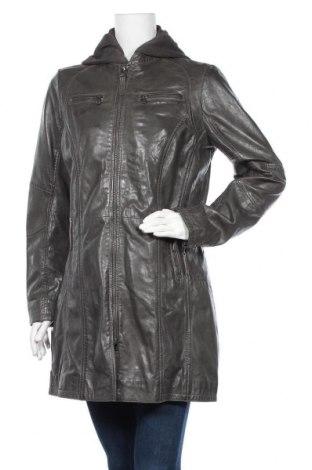 Γυναικείο δερμάτινο μπουφάν Gipsy, Μέγεθος XL, Χρώμα Γκρί, Γνήσιο δέρμα, Τιμή 138,79€