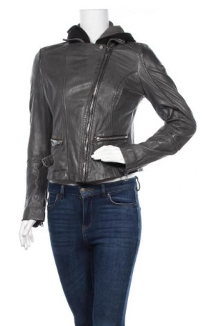 Γυναικείο δερμάτινο μπουφάν Gipsy, Μέγεθος XL, Χρώμα Γκρί, Γνήσιο δέρμα, Τιμή 136,35€