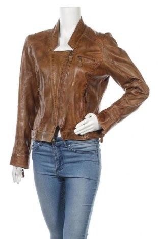 Дамско кожено яке Set, Размер L, Цвят Кафяв, Естествена кожа, Цена 78,40лв.