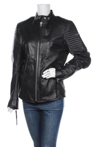 Дамско кожено яке Tigha, Размер M, Цвят Черен, Естествена кожа, Цена 317,40лв.