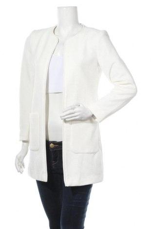 Дамско палто H&M, Размер S, Цвят Бял, 97% полиестер, 3% еластан, Цена 44,10лв.