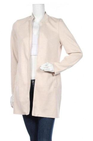 Дамско палто ONLY, Размер S, Цвят Екрю, 92% полиестер, 8% еластан, Цена 55,48лв.