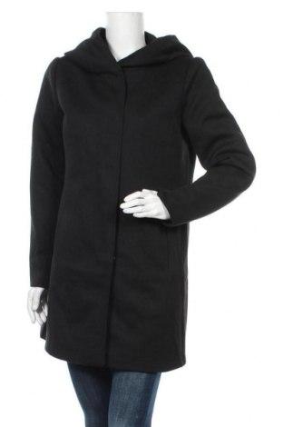 Γυναικείο παλτό Vero Moda, Μέγεθος L, Χρώμα Μαύρο, 85% πολυεστέρας, 15% βαμβάκι, Τιμή 26,88€