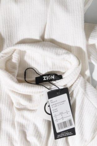 Дамско полo Zign, Размер M, Цвят Екрю, 60% полиестер, 35% вискоза, 5% еластан, Цена 28,50лв.