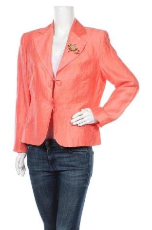 Γυναικείο σακάκι Bianca, Μέγεθος L, Χρώμα Ρόζ , 90% λινό, 10% πολυαμίδη, Τιμή 14,36€