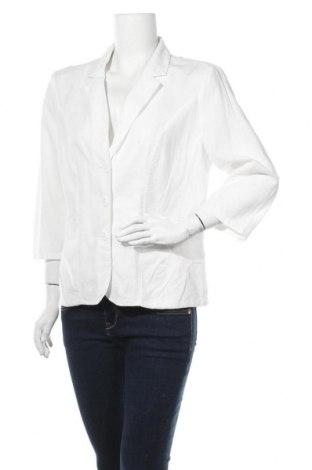 Γυναικείο σακάκι Charles Vogele, Μέγεθος XL, Χρώμα Λευκό, 55% λινό, 45% βαμβάκι, Τιμή 14,91€