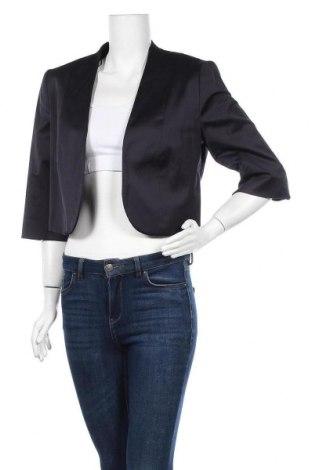 Γυναικείο σακάκι Comma,, Μέγεθος L, Χρώμα Μπλέ, 50% βαμβάκι, 47% πολυεστέρας, 3% ελαστάνη, Τιμή 25,92€