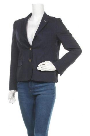 Дамско сако Gant, Размер M, Цвят Син, 60% вълна, 38% полиестер, 2% еластан, Цена 182,92лв.