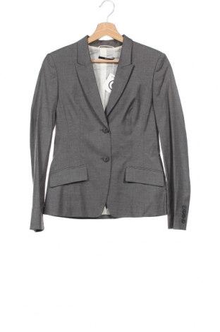 Γυναικείο σακάκι Hugo Boss, Μέγεθος XS, Χρώμα Γκρί, 94% χαλκαμμωνία, 6% ελαστάνη, Τιμή 62,35€