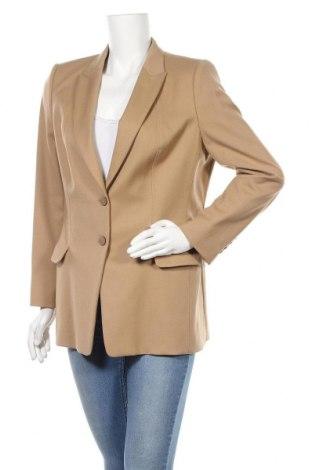 Γυναικείο σακάκι Hugo Boss, Μέγεθος L, Χρώμα  Μπέζ, 99% μαλλί, 1% ελαστάνη, Τιμή 59,38€
