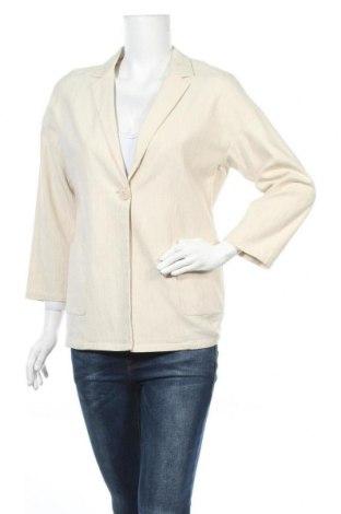 Γυναικείο σακάκι Liu Jo, Μέγεθος M, Χρώμα  Μπέζ, 74% βαμβάκι, 25% βισκόζη, 1% ελαστάνη, Τιμή 28,75€
