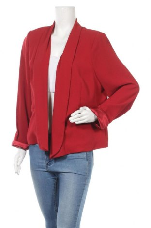 Γυναικείο σακάκι Your Sixth Sense, Μέγεθος XXL, Χρώμα Κόκκινο, Πολυεστέρας, Τιμή 15,20€