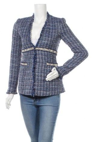 Дамско сако Zara, Размер S, Цвят Многоцветен, 39% вискоза, 34% памук, 14% полиестер, 12% акрил, 1% други тъкани, Цена 33,00лв.