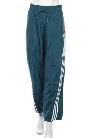 Дамско спортно долнище Adidas, Размер XL, Цвят Зелен, Полиестер, Цена 36,80лв.