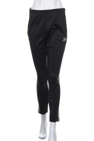 Дамско спортно долнище Adidas Originals, Размер M, Цвят Черен, 50% памук, 43% полиестер, 7% еластан, Цена 69,00лв.