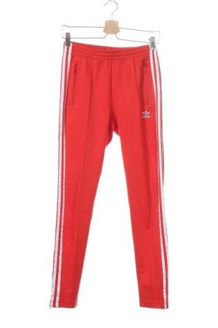 Дамско спортно долнище Adidas Originals, Размер XXS, Цвят Червен, 50% памук, 45% полиестер, 5% еластан, Цена 69,00лв.