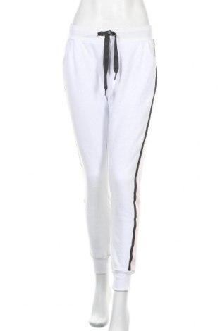 Дамско спортно долнище Bench, Размер S, Цвят Бял, 65% памук, 35% полиестер, Цена 39,42лв.