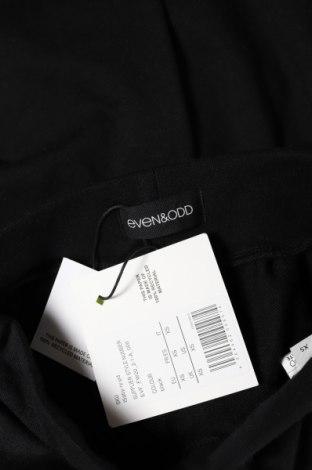 Дамско спортно долнище Even&Odd, Размер XS, Цвят Черен, 60% памук, 40% полиестер, Цена 21,42лв.