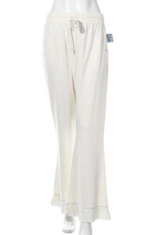 Γυναικείο αθλητικό παντελόνι Free People, Μέγεθος M, Χρώμα Εκρού, 55% πολυεστέρας, 45% βαμβάκι, Τιμή 29,69€