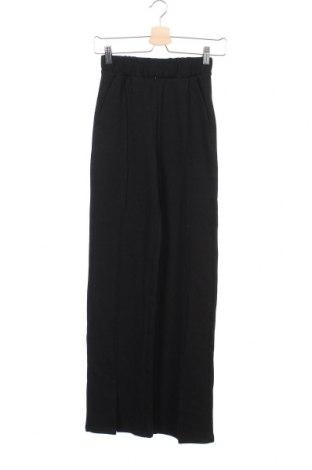 Γυναικείο αθλητικό παντελόνι Gina Tricot, Μέγεθος XXS, Χρώμα Μαύρο, 85% βαμβάκι, 15% πολυεστέρας, Τιμή 19,56€