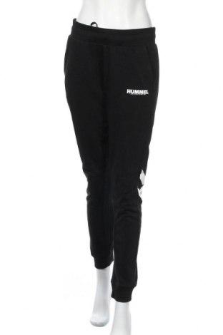 Дамско спортно долнище Hummel, Размер M, Цвят Черен, Памук, Цена 29,70лв.