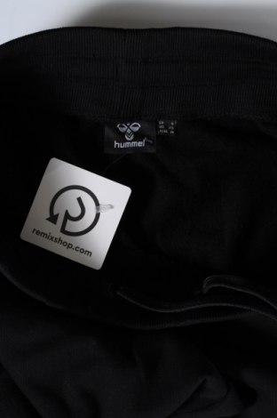 Дамско спортно долнище Hummel, Размер S, Цвят Черен, Памук, Цена 29,70лв.