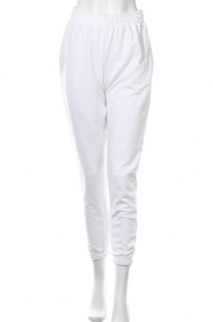 Γυναικείο αθλητικό παντελόνι Missguided, Μέγεθος M, Χρώμα Λευκό, 60% βαμβάκι, 40% πολυεστέρας, Τιμή 14,69€