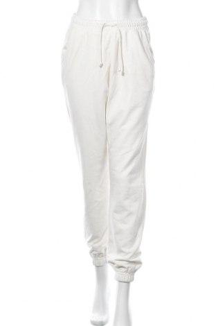 Γυναικείο αθλητικό παντελόνι Missguided, Μέγεθος S, Χρώμα Λευκό, 55% πολυεστέρας, 45% βαμβάκι, Τιμή 15,08€
