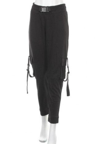 Дамско спортно долнище Missguided, Размер M, Цвят Черен, 55% полиестер, 45% памук, Цена 29,92лв.