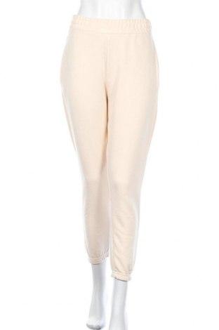 Дамско спортно долнище Missguided, Размер M, Цвят Екрю, 60% полиестер, 40% памук, Цена 27,00лв.