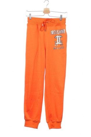 Дамско спортно долнище Moschino Couture, Размер XS, Цвят Оранжев, 53% полиестер, 47% памук, Цена 164,25лв.