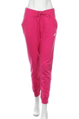 Дамско спортно долнище Nike, Размер S, Цвят Розов, 80% памук, 20% полиестер, Цена 69,00лв.