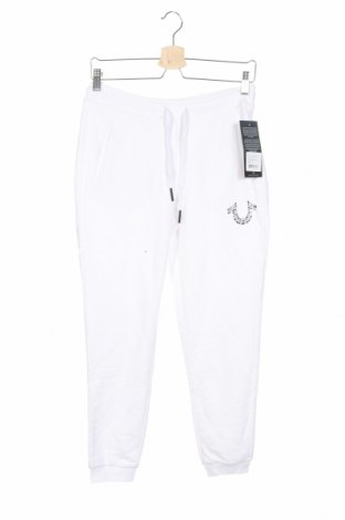 Дамско спортно долнище True Religion, Размер XS, Цвят Бял, 84% памук, 16% полиестер, Цена 96,75лв.