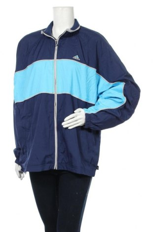 Дамско спортно горнище Adidas, Размер XL, Цвят Син, Полиестер, Цена 74,25лв.