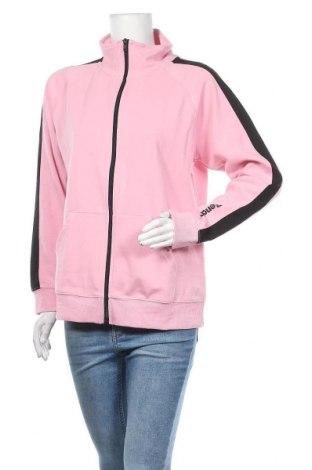 Дамско спортно горнище Bench, Размер XL, Цвят Розов, 60% памук, 40% полиестер, Цена 51,75лв.