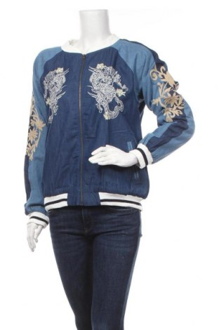 Dámská bunda  Desigual, Velikost L, Barva Modrá, 57% bavlna, 43% polyester, Cena  730,00Kč