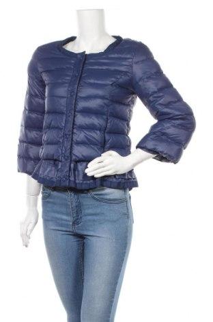 Γυναικείο μπουφάν Silvian Heach, Μέγεθος L, Χρώμα Μπλέ, Πολυαμίδη, φτερά και πούπουλα, Τιμή 55,05€