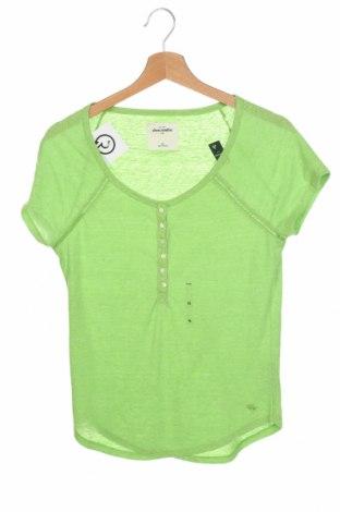 Детска блуза Abercrombie Kids, Размер 15-18y/ 170-176 см, Цвят Зелен, 50% полиестер, 40% памук, 10% вискоза, Цена 11,80лв.