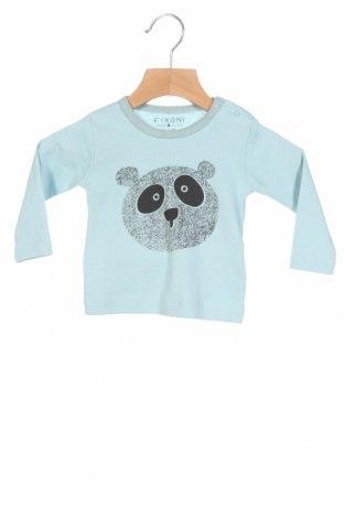 Детска блуза Fixoni, Размер 2-3m/ 56-62 см, Цвят Син, Памук, Цена 26,40лв.