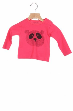 Детска блуза Fixoni, Размер 2-3m/ 56-62 см, Цвят Розов, Памук, Цена 6,16лв.