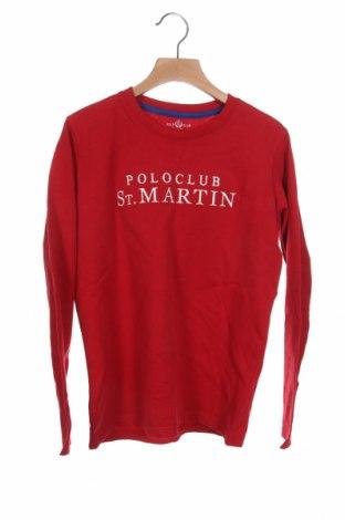Παιδική μπλούζα St.Martin polo club, Μέγεθος 9-10y/ 140-146 εκ., Χρώμα Κόκκινο, 100% βαμβάκι, Τιμή 9,07€