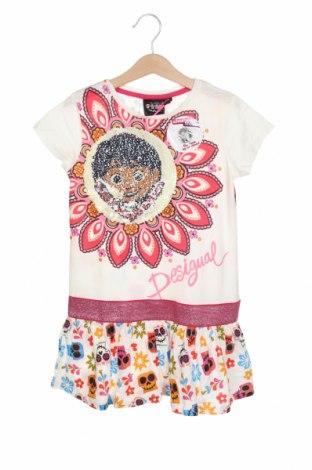 Dětské šaty  Desigual, Velikost 5-6y/ 116-122 cm, Barva Bílá, 100% bavlna, Cena  942,00Kč