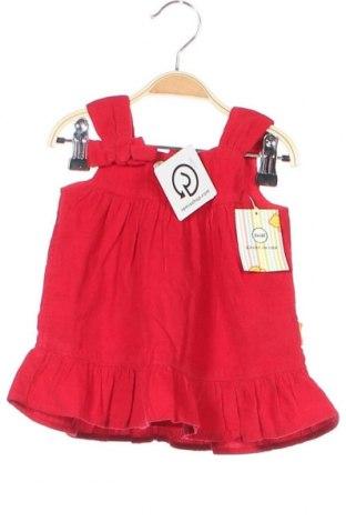 Παιδικό φόρεμα Steiff, Μέγεθος 2-3m/ 56-62 εκ., Χρώμα Κόκκινο, Βαμβάκι, Τιμή 15,26€